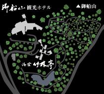 御船山楽園園内図
